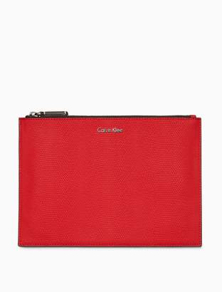 Calvin Klein textured zip pouch