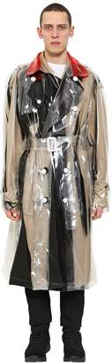 Maison Margiela Double Breasted Pvc Trench Coat