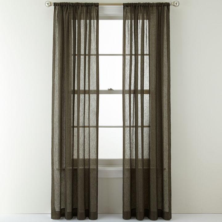 Royal Velvet Crushed Voile Rod Pocket Curtain Panel Shopstyle Home