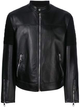 Neil Barrett front zip biker jacket