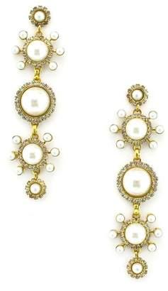 Elizabeth Cole Gretchen Imitation Pearl Linear Earrings