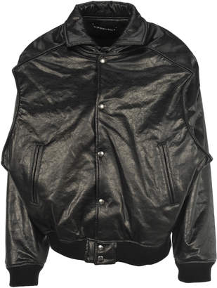 Y/Project Faux Leather Bomber Jacket
