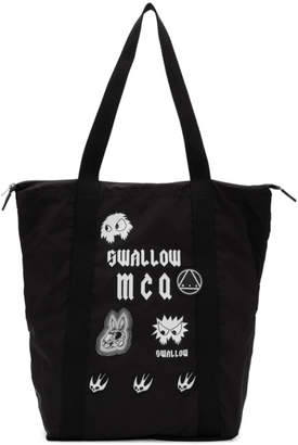 McQ Black Swallow Magazine Tote