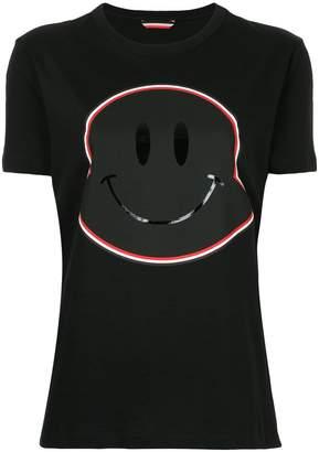 Moncler smiley face maxi logo T-shirt