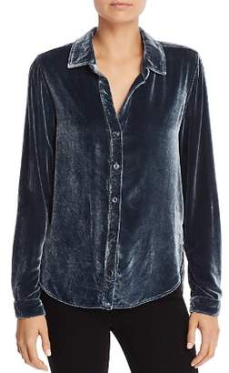 Bella Dahl Velvet Button-Down Blouse