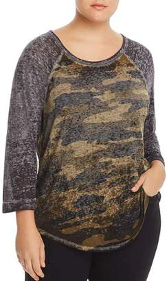 Lucky Brand Plus Burnout Camo Tee