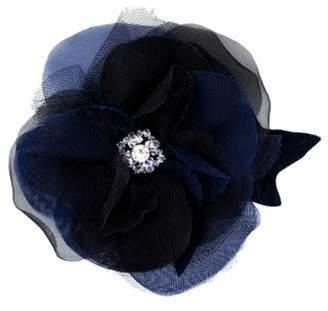 Chanel Crystal Camellia Brooch Blue Crystal Camellia Brooch