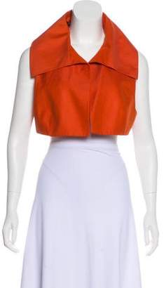 Akris Open Front Cropped Vest w/ Tags