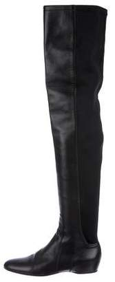 Lanvin Leather Over-The-Knee Boots