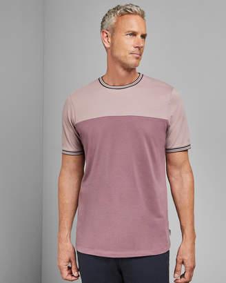 Ted Baker DATETT Tall cotton panel T-shirt