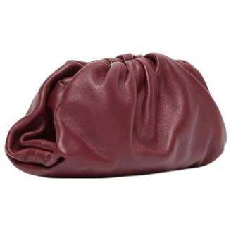 Bottega Veneta Pouch Burgundy Leather Clutch bags