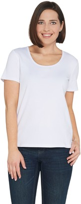 Brooke Shields Timeless BROOKE SHIELDS Timeless Essential Scoop-Neck Knit T-Shirt