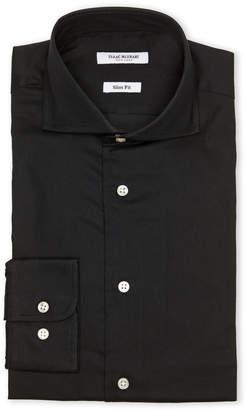 Isaac Mizrahi Black Textured Dress Shirt