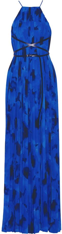 MICHAEL Michael KorsMichael Kors Collection Pleated printed crepe de chine gown