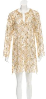 Sophie Theallet Metallic Embroidered Dress w/ Tags