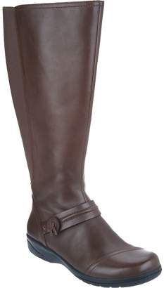 Clarks Leather Wide Calf Tall Shaft Boots - Cheyn Whisk