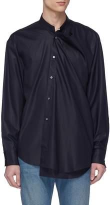 Wooyoungmi Mandarin collar layered front panel shirt