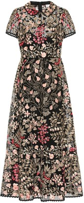 RED Valentino Embroidered broderie anglaise midi dress