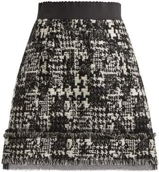 Dolce & Gabbana Houndstooth tweed mini skirt