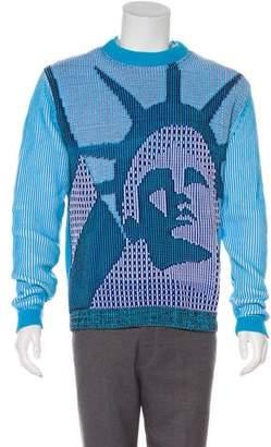Kenzo Lady Liberty Jacquard Crew Neck Sweater