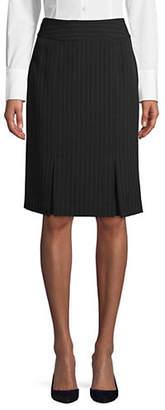 Kasper SUITS Pinstriped Slim-Fit Skirt