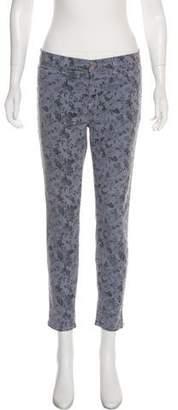 J Brand High-Rise Skinny Printed Jeans