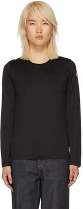 Moncler Black Long Sleeve Logo T-Shirt