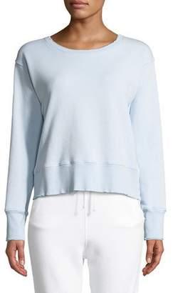 Frank And Eileen Frayed Crewneck Cotton Sweatshirt