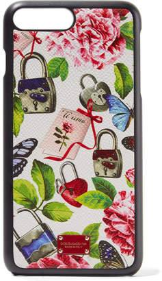 Dolce & Gabbana Printed Textured-leather Iphone 7 Plus Case - White