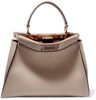Fendi - Peekaboo Medium Leather Tote - Beige $4,100 thestylecure.com