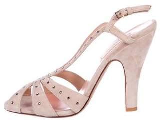 Valentino Suede High Heel Sandals