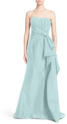 Carolina Herrera Nordstrom x Bow Detail Strapless Silk Faille Gown
