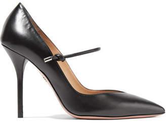 Aquazzura Stylist Textured-leather Mary Jane Pumps