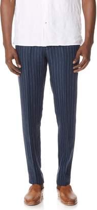 Club Monaco Striped Suffolk Trousers