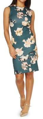Dorothy Perkins Floral Scuba Knit Sheath Dress