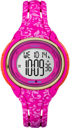 Timex Womens Sleek Hot Pink Floral 50 Lap Strap Watch $55.96 thestylecure.com