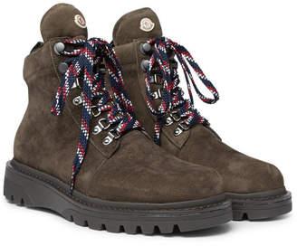 Moncler Isaac Nubuck Hiking Boots - Men - Green