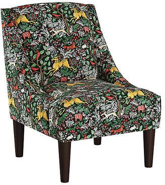 One Kings Lane Quinn Swoop-Arm Accent Chair - Green