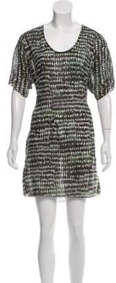 Marni Printed Mini Dress Green Printed Mini Dress