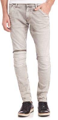 3D Zip Straight Leg Jeans $230 thestylecure.com