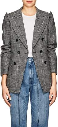 AKIRA NAKA Women's Checked Wool-Blend Double-Breasted Blazer