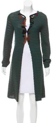 Prada Embellished Knit Cardigan