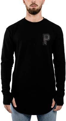 9b9311e586fc Blackskies Allstar Mens Longline Long Sleeve T-Shirt | Oversized Curved Hem  L/S