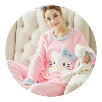 pursuit-of-self-CA-Sleepwear Dress 2018 Winter Fashion Women Long Sleeve 597f9a9c9