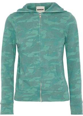 Monrow Printed Jersey Hooded Sweatshirt