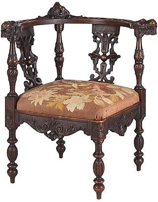 One Kings Lane Vintage French Renaissance Revival Corner Chair - Negrel Antiques
