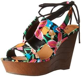 Qupid Women's Gimmick-30A Wedge Sandal