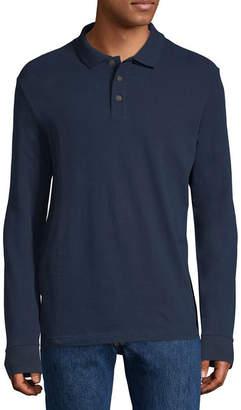 ST. JOHN'S BAY Mens Long Sleeve Polo Shirt