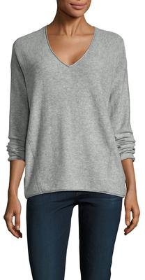 Three DotsRosalinda Wool Cashmere V-Neck Sweater
