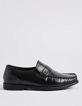 at Marks and Spencer · M S Collection Big   Tall Extra Wide Leather Trim  Loafers 22c941f5a373